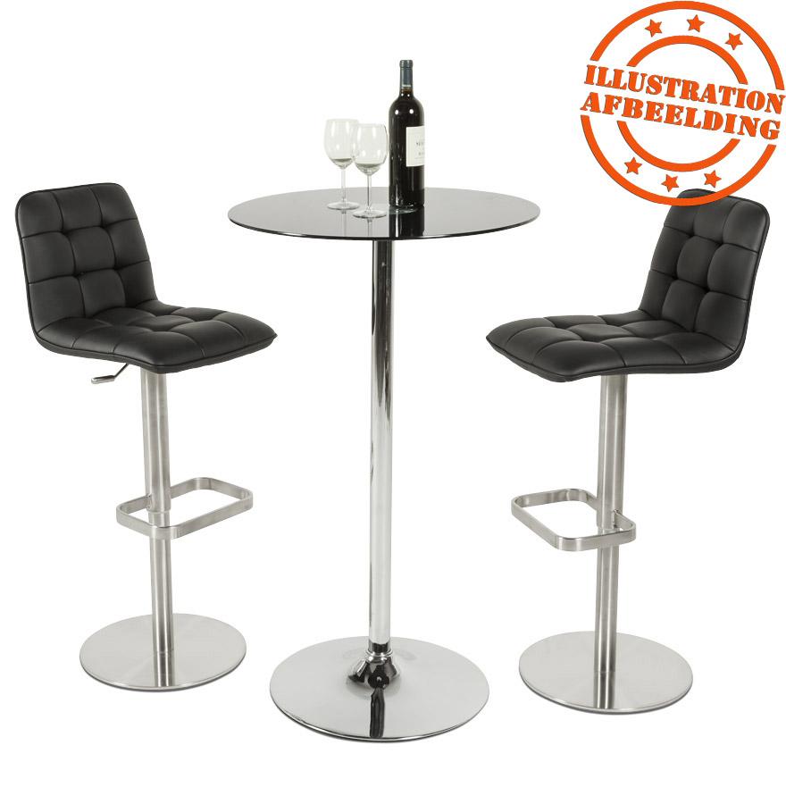 table haute xena en verre noir - mange-debout design
