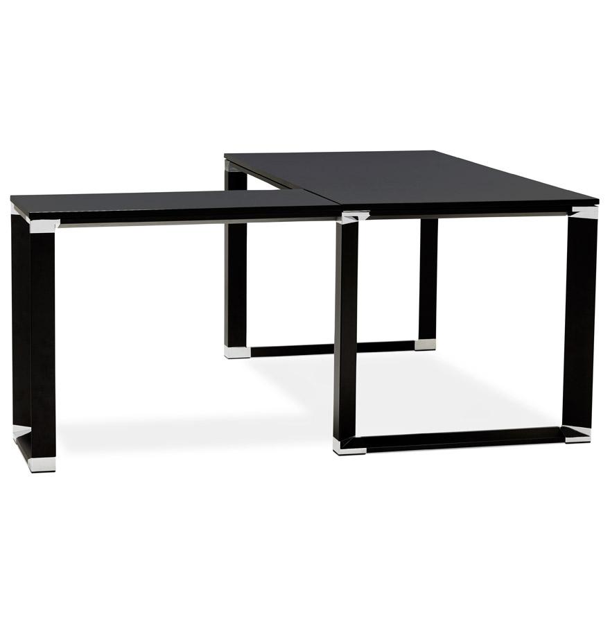bureau de direction design xline en bois noir bureau d 39 angle. Black Bedroom Furniture Sets. Home Design Ideas