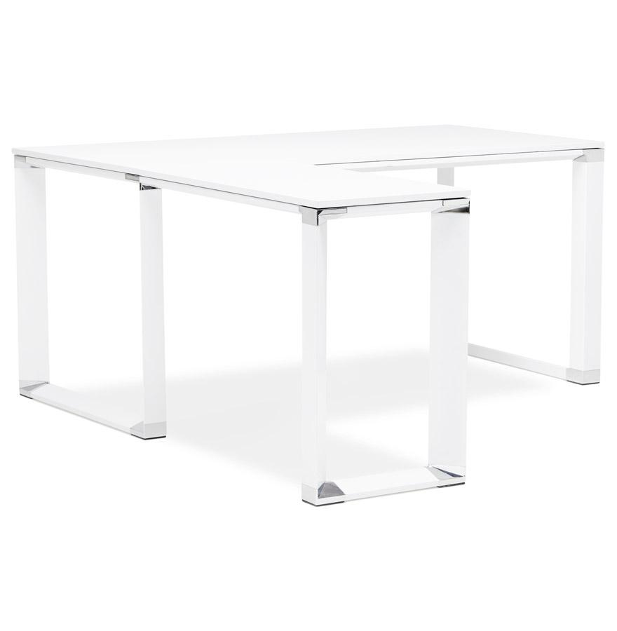 Bureau d´angle design ´XLINE´ en bois blanc (angle au choix)