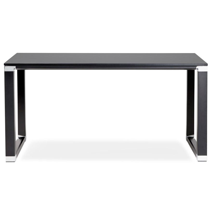 recht bureau xline in zwart hout klein designbureau 140x70 cm