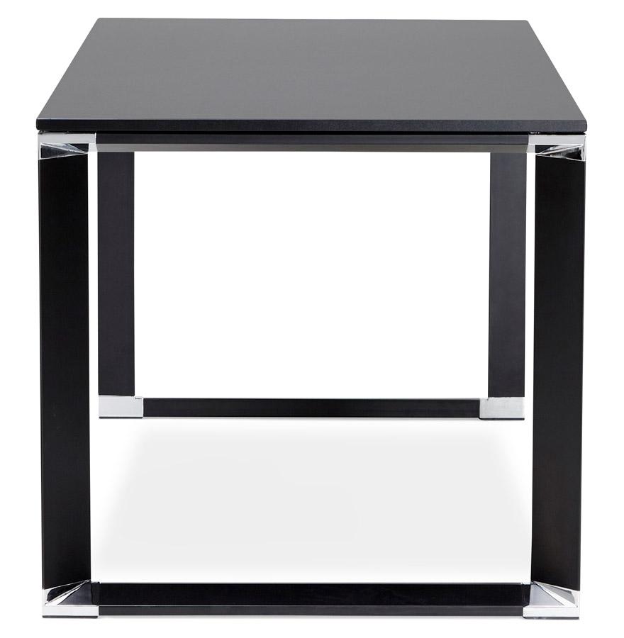Petit bureau droit design ´XLINE´ en bois noir - 140x70 cm