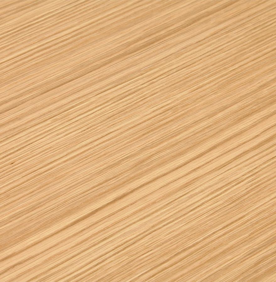 Petit bureau droit design ´XLINE´ en bois finition naturelle et métal blanc - 140x70 cm
