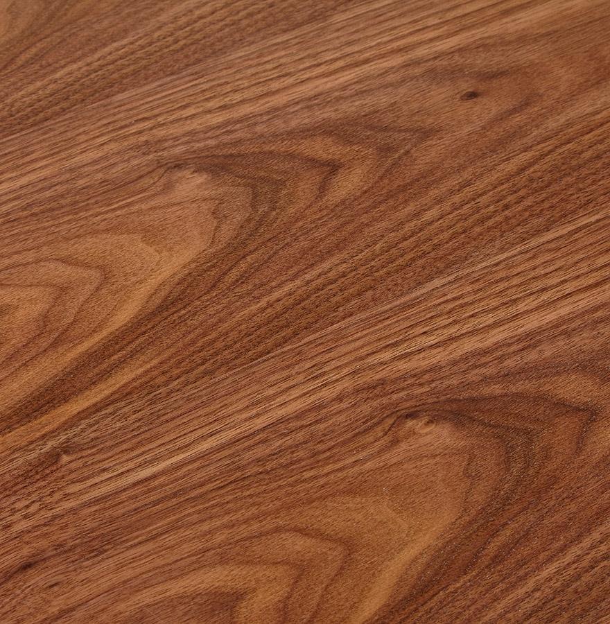 Petit bureau droit design ´XLINE´ en bois finition Noyer et métal blanc - 140x70 cm