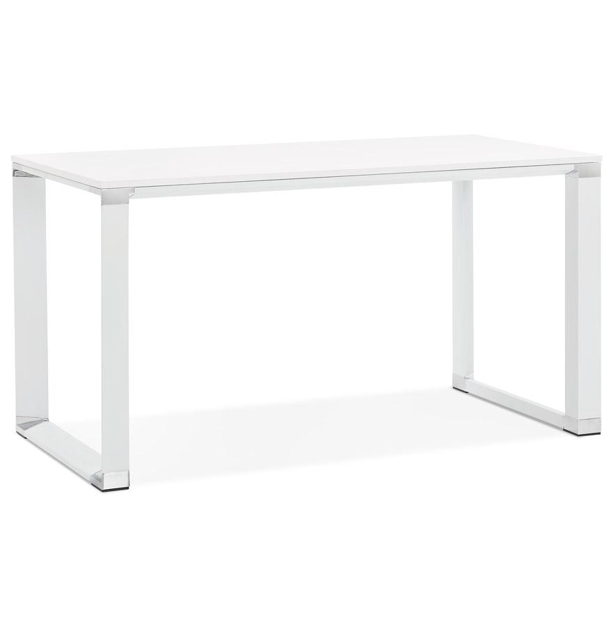 bureau droit xline en bois blanc petit bureau design 140x70 cm