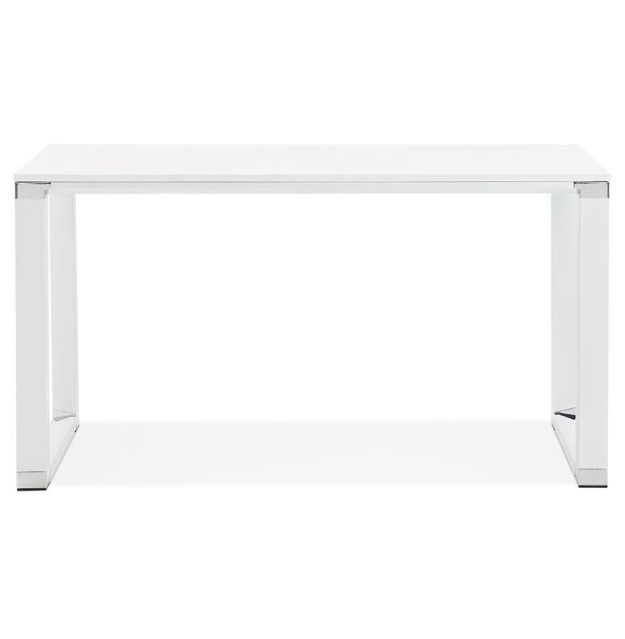 Petit bureau droit design ´XLINE´ en bois blanc - 140x70 cm