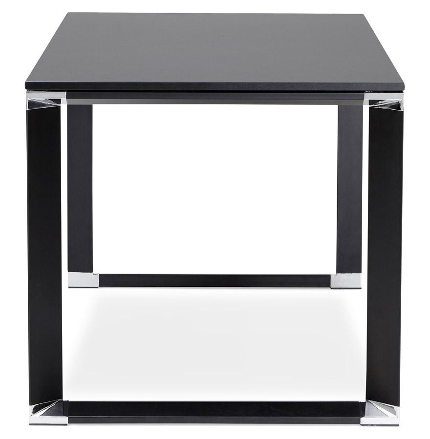 Bureau droit design ´XLINE´ en bois noir - 160x80 cm