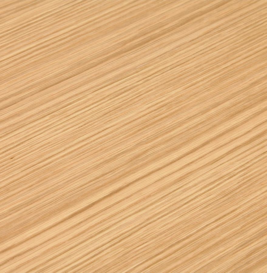 Bureau droit design ´XLINE´ en bois finition naturelle et métal blanc - 160x80 cm