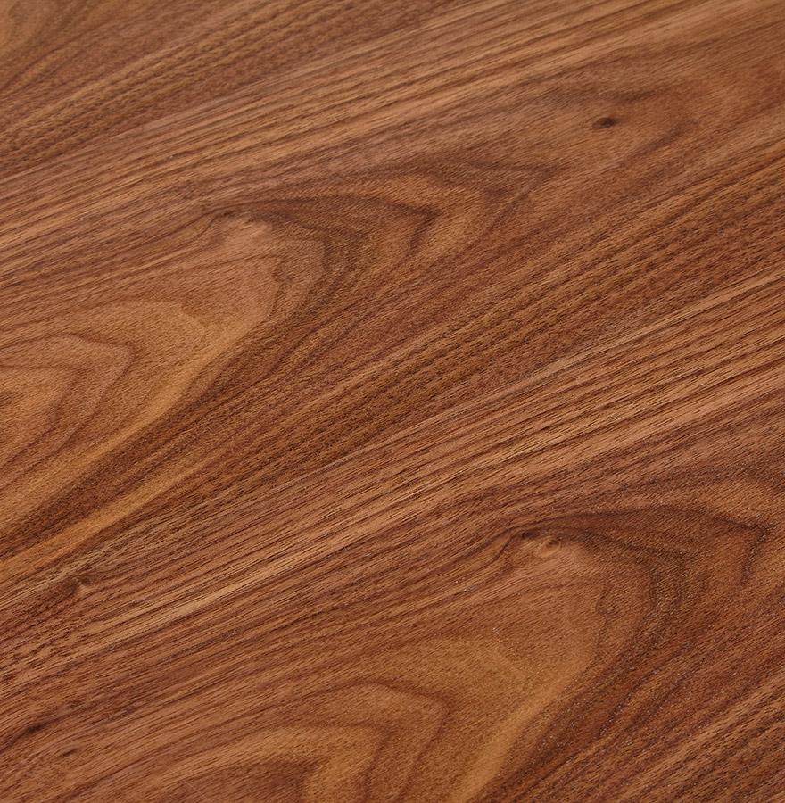 Bureau droit design ´XLINE´ en bois finition Noyer et métal blanc - 160x80 cm