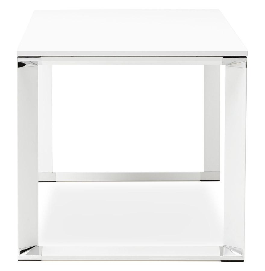 Bureau de direction droit design ´XLINE´ en bois blanc - 160x80 cm