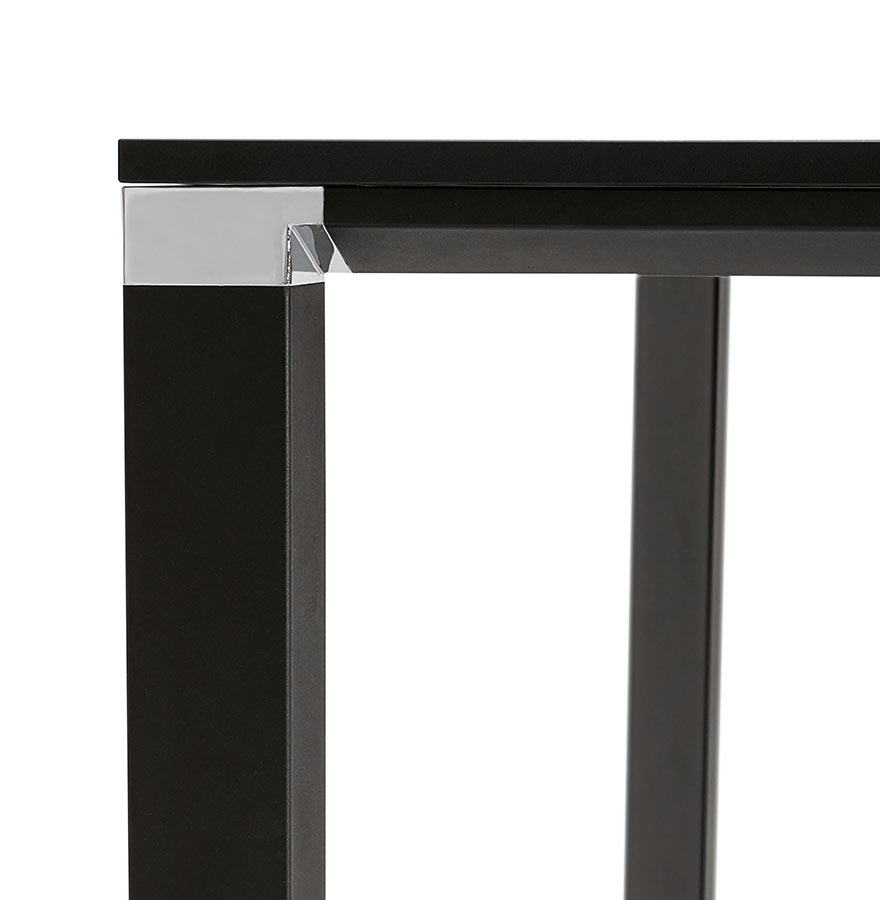 bench bureau xline square in het zwart vergadertafel 140x140 cm. Black Bedroom Furniture Sets. Home Design Ideas