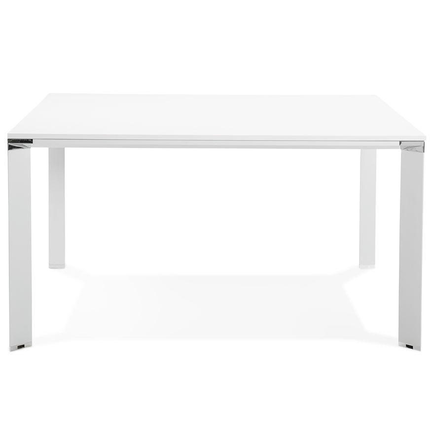 Table de réunion / bureau bench ´XLINE SQUARE´ blanc - 140x140 cm