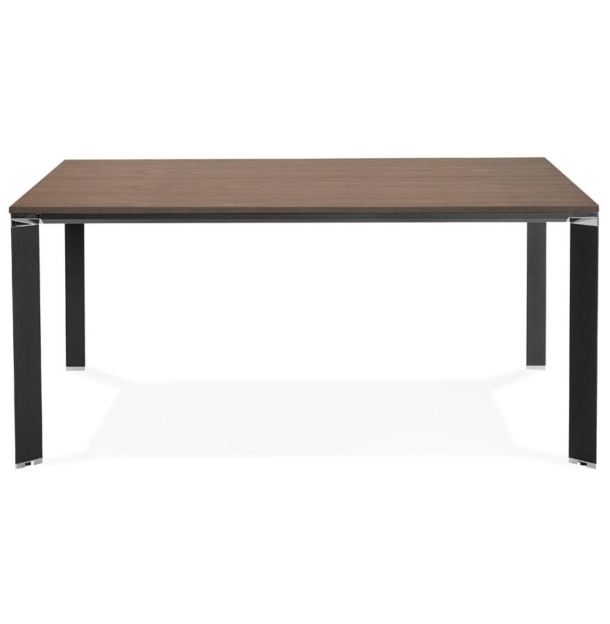Table de réunion / bureau bench ´XLINE SQUARE´ en bois finition Noyer et métal noir - 160x160 cm