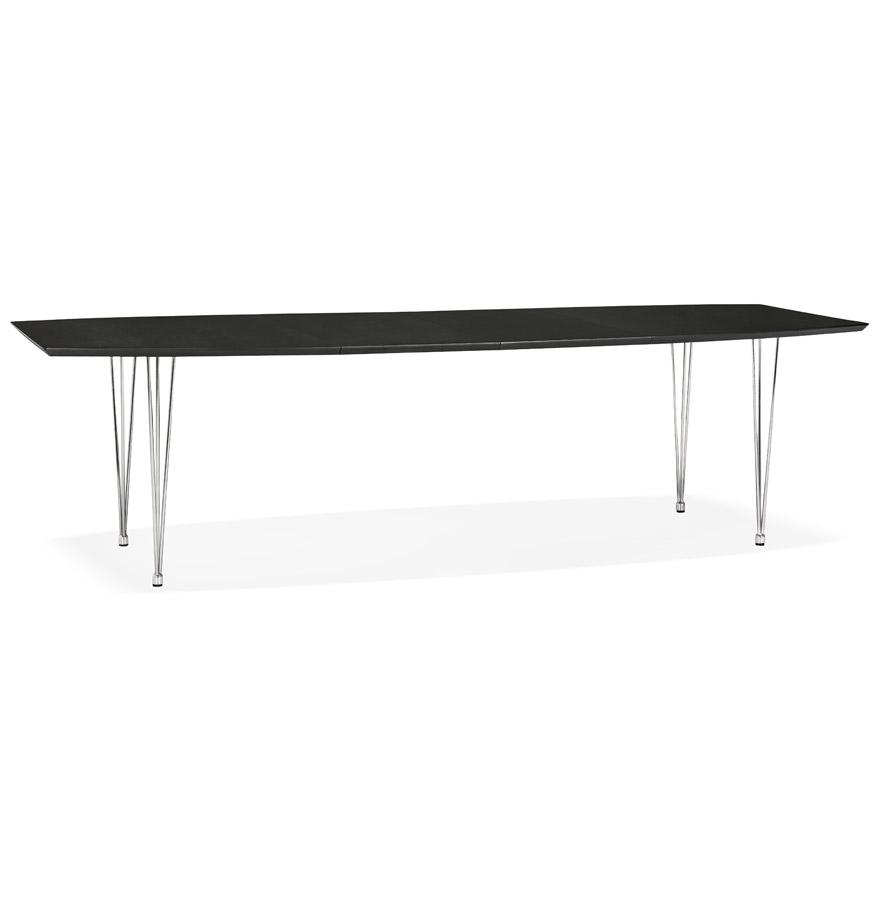 xtend black h2 gd 01 - Table à dîner / de réunion extensible ´XTEND´ noire - 170(270)x100 cm