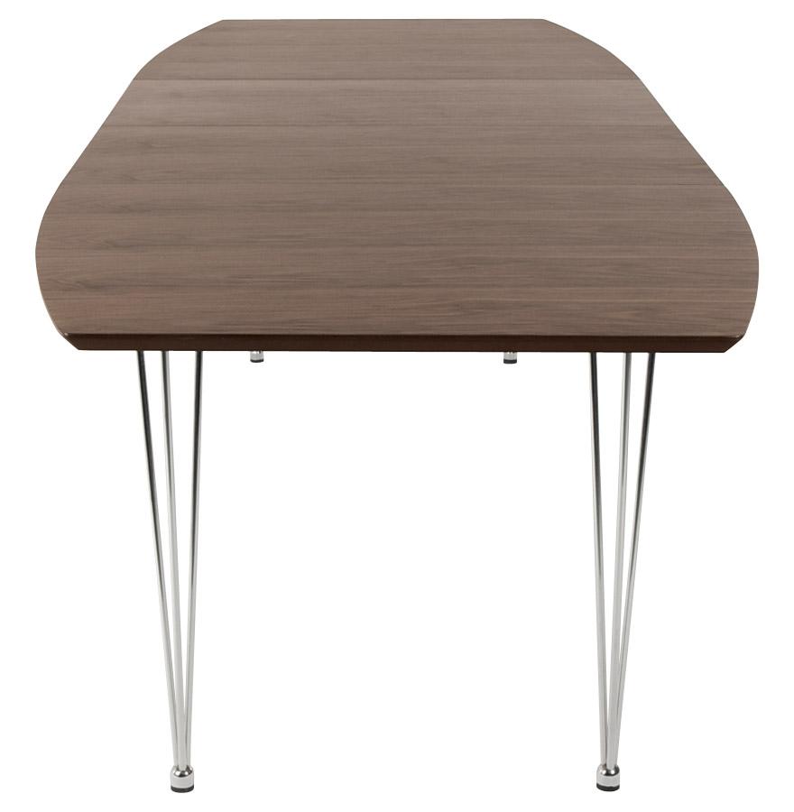uitschuifbare eettafel xtend uit notenboomhout design tafel. Black Bedroom Furniture Sets. Home Design Ideas