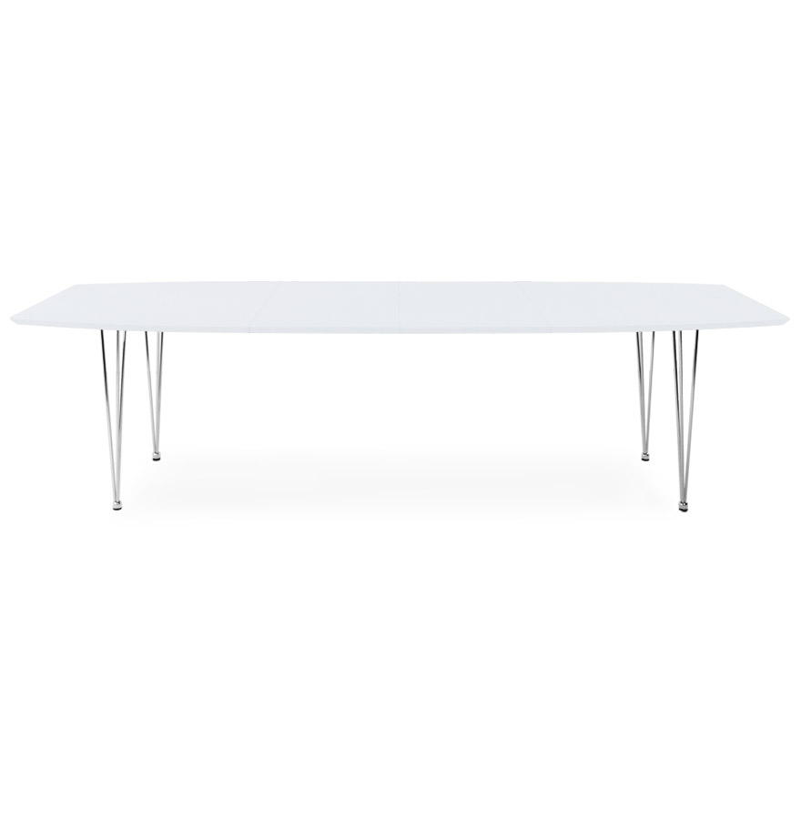 xtend white newsite 02 1 - Table à dîner / de réunion extensible ´XTEND´ blanche - 170(270)x100 cm