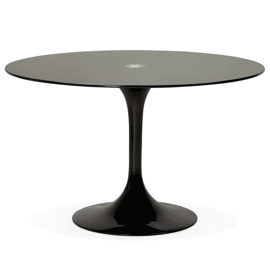 Table à dîner design ronde ´ALEXIA´ noire - Ø 120 cm
