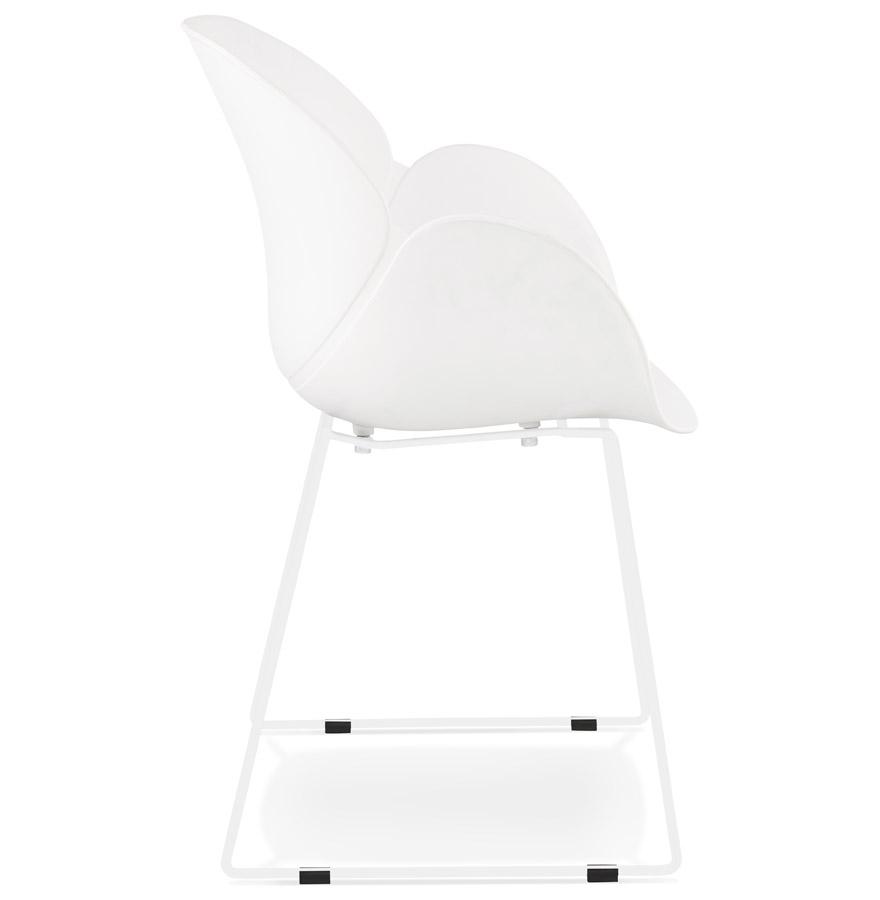 Chaise avec accoudoirs ´ZAKARY´ blanche avec pied en métal - intérieur /extérieur