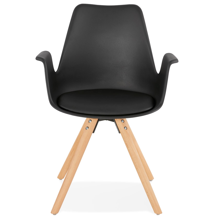 chaise avec accoudoirs zalik noire chaise scandinave. Black Bedroom Furniture Sets. Home Design Ideas