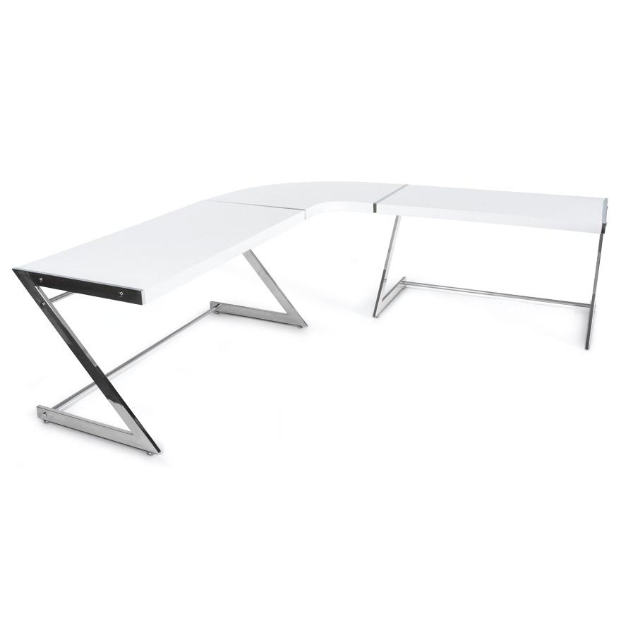 zeta white newsite 03 1 - Bureau d´angle ´ZETA´ en bois blanc design (angle au choix)