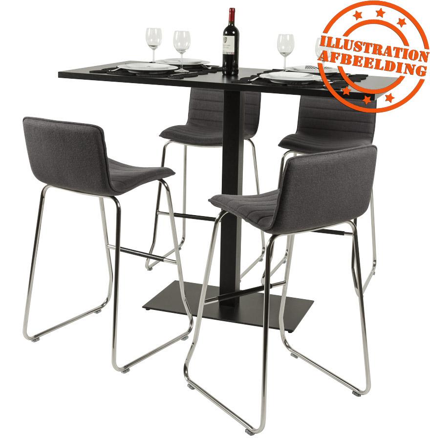 Plateau de table ´ZINC´ 140x70cm en bois noir