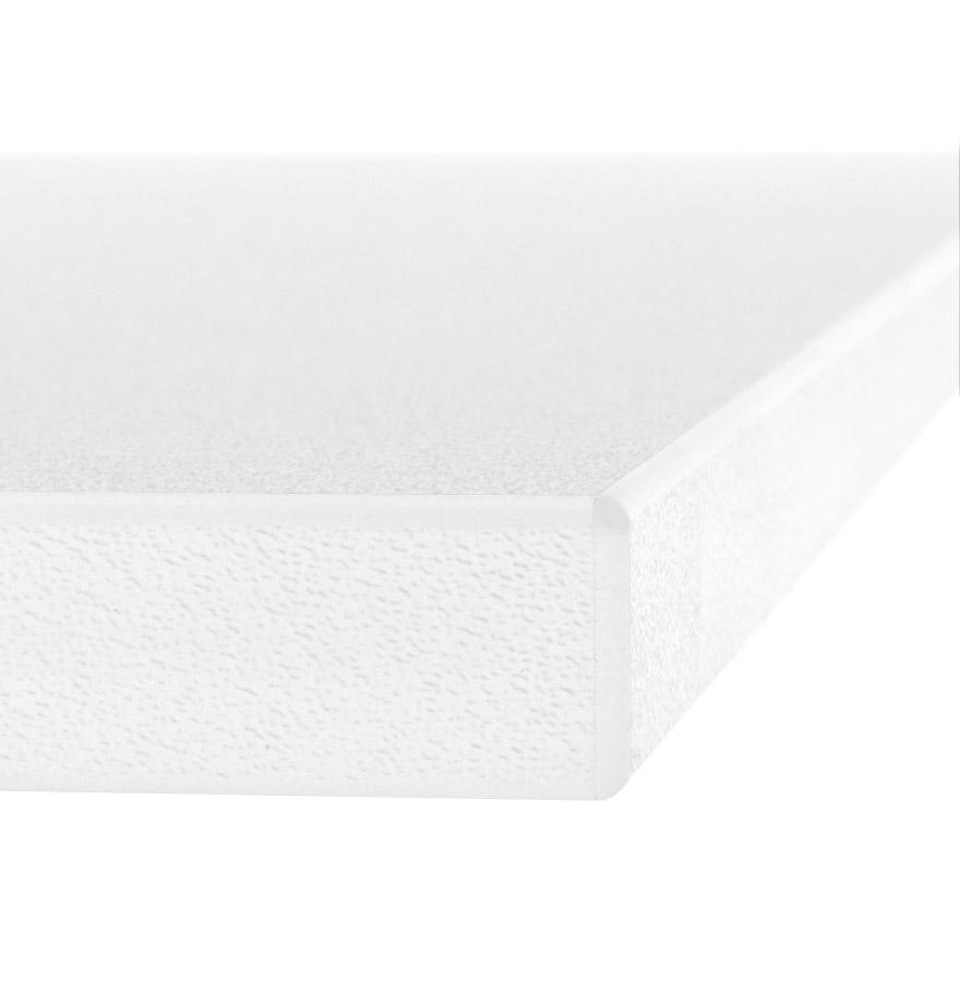 Plateau de table ´ZINC´ 140x70cm en bois blanc
