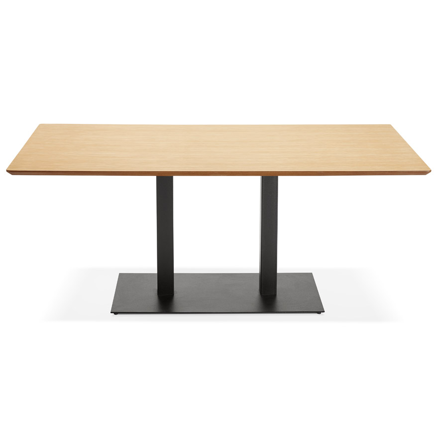 table de r union zumba en bois finition naturelle 180x90 cm. Black Bedroom Furniture Sets. Home Design Ideas