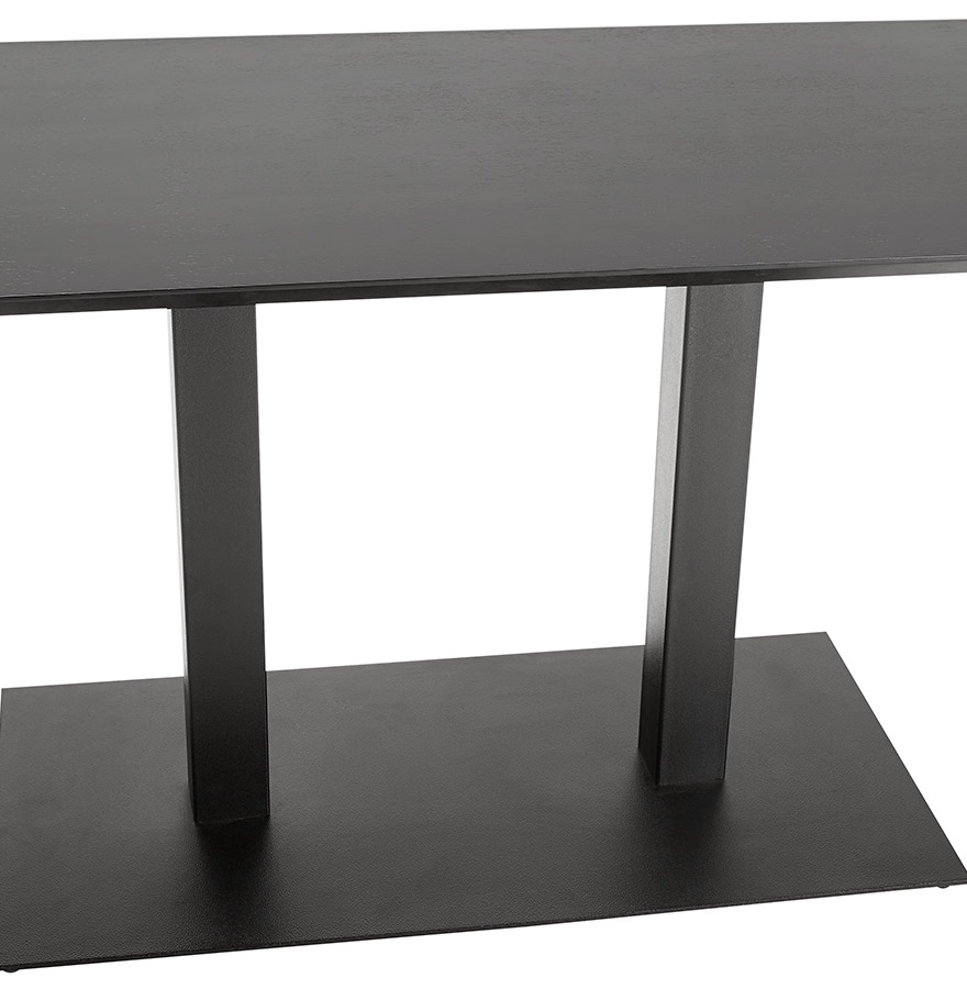 table de r union zumba noir 150x70 cm bureau design. Black Bedroom Furniture Sets. Home Design Ideas
