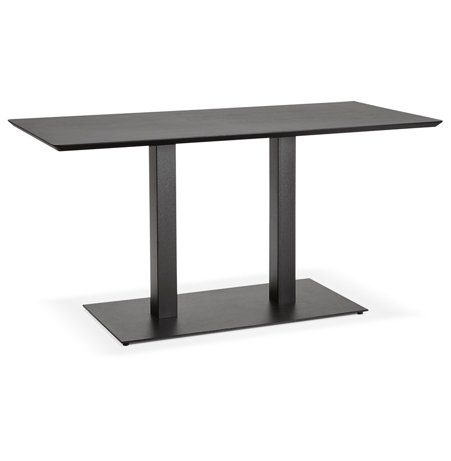 Table de r union zumba noir 150x70 cm bureau design for Bureau 150x70