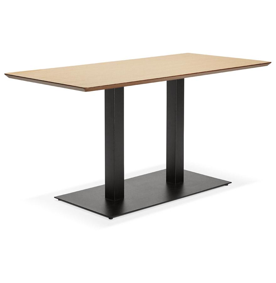 table de r union zumba en bois finition naturelle 150x70 cm. Black Bedroom Furniture Sets. Home Design Ideas