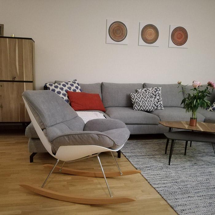 Fauteuil à bascule CHILY - Alterego Design - Photo 1