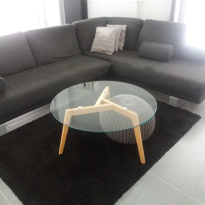 Design lage salontafel GLAZY - Alterego Design - Foto 1