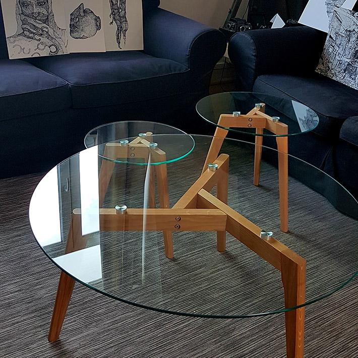 Design lage salontafel GLAZY - Alterego Design - Foto 9