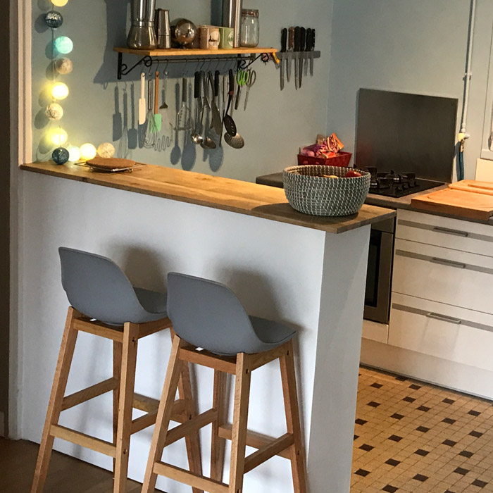 tabouret de bar kiko blanc style scandinave tabouret design. Black Bedroom Furniture Sets. Home Design Ideas