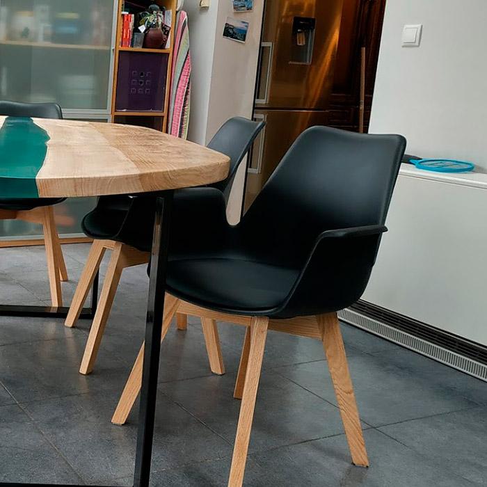 Chaise avec accoudoirs MISTRAL - Alterego Design - Photo 1