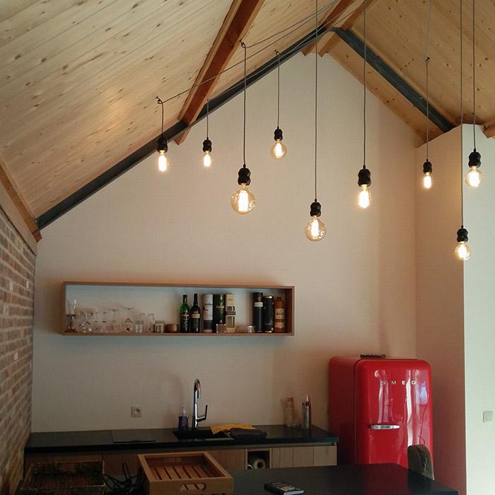 Rainy hanglamp met 9 lampvoeten - Alterego Design - Foto 1