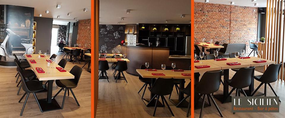 Restaurant Le Sicilien - Mobilier pour HORECA Alterego Design