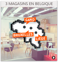 Trois magasins de meubles en Belgique