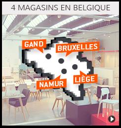 4 magasins de meubles en Belgique