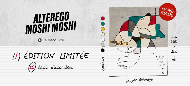 Tapis fait main MOSHI - Alterego Design Belgique