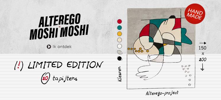 Handgemaakt tapijt MOSHI - Alterego Design België