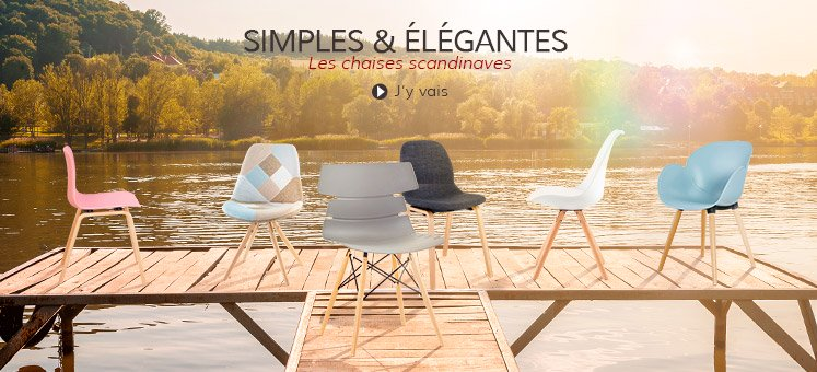 Chaises scandinaves - Alterego Design Belgique