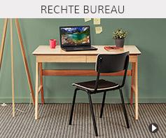 Design rechte bureau - Alterego meubels