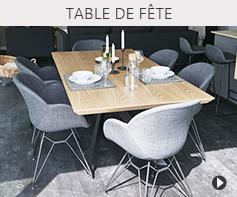 Tables de salle à manger pour Noël et nouvel an 2020 - Meubles tendances Alterego Design