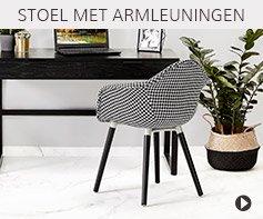 Design stoel met armleiningen - Alterego meubels