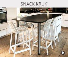 Design halfhoge kruk - Alterego meubels