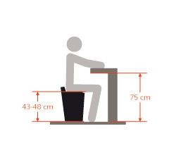 Tabourets bas - hauteur 45 cm