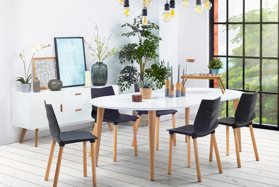 table dner ronde extensible iglou style scandinave 120220x120 cm - Meubles Scandinaves