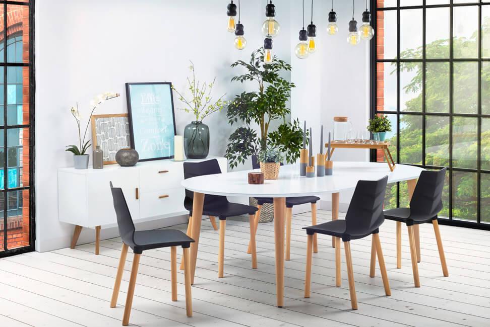 Table à dîner ronde extensible  IGLOU  style scandinave - 120(220)x120 cm 960e4f391838