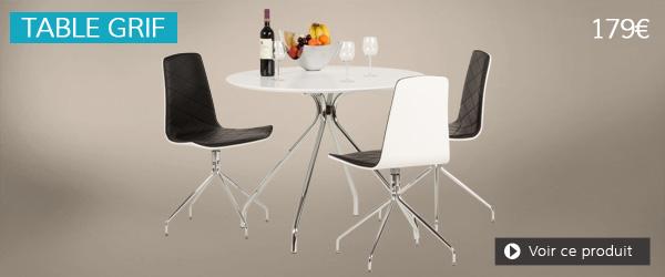 Table de cuisine blanche GRIF