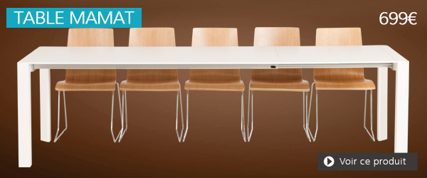 Table extensible blanche MAMAT